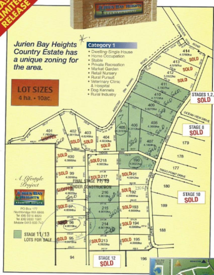 Jurien Bay Heights Map