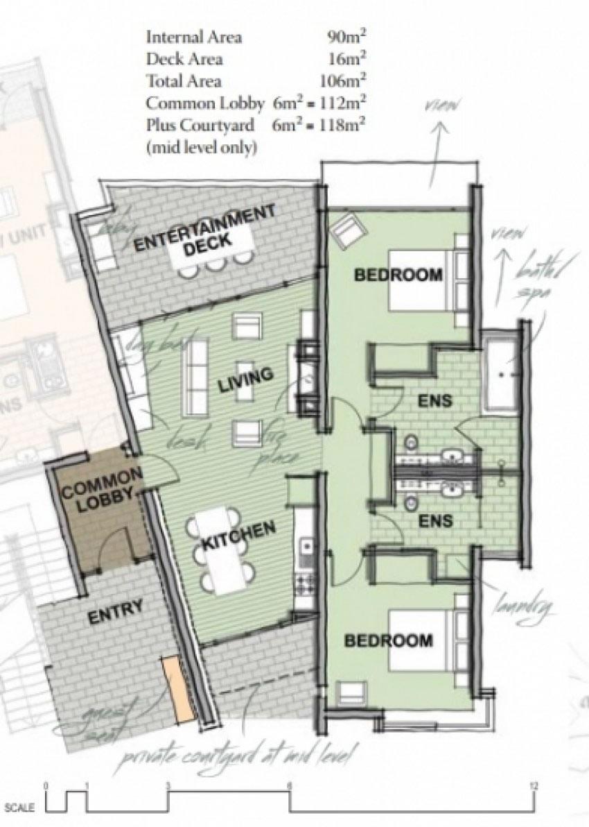 Binna Burra Sky Lodge - Lot 17 Plan