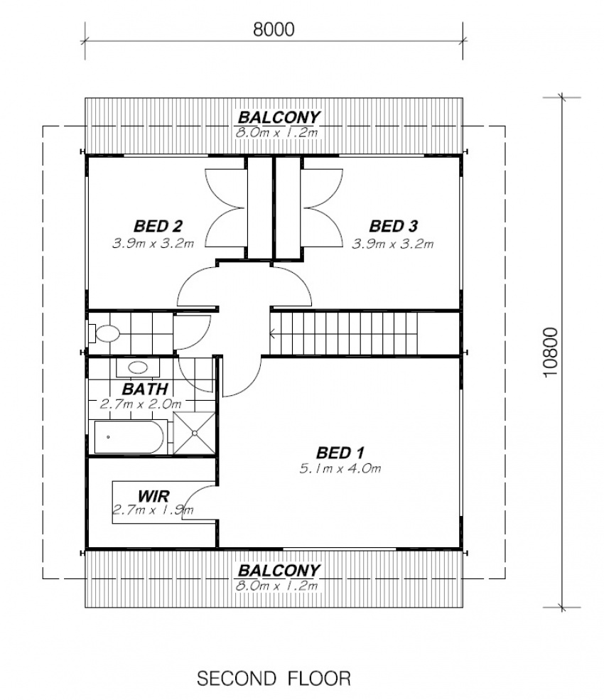 COOLUM SECOND FLOOR PLAN