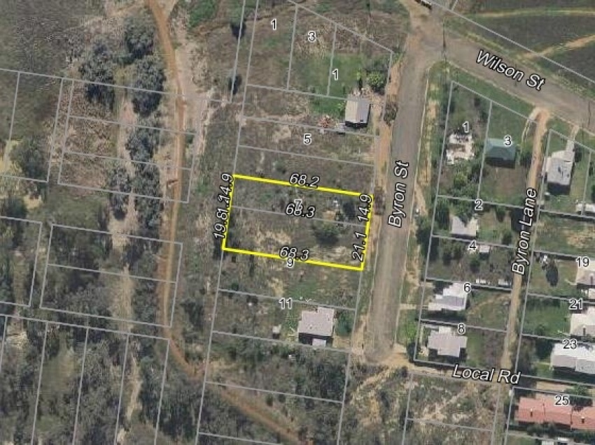 Vacant double residential country block of land
