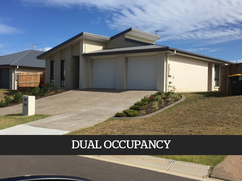 DUAL OCCUPANCY : Two Dwellings on ONE TITLE