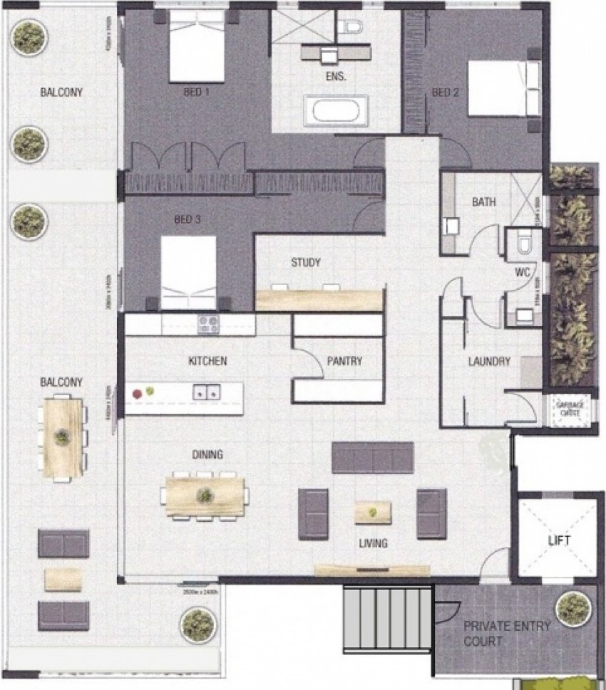 Park Edge Sub Penthouse Apartment Floorplan