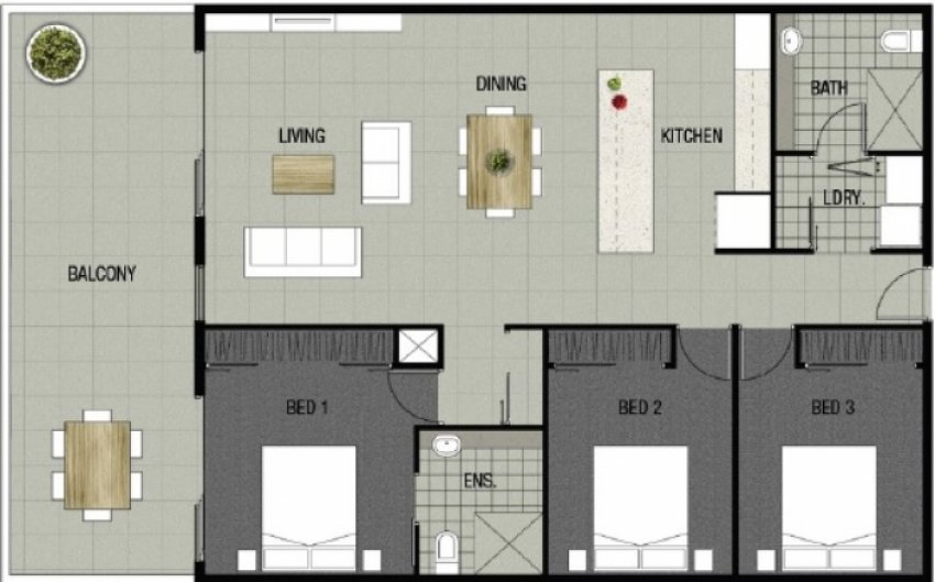 Park Edge Apartment 507 Floorplan